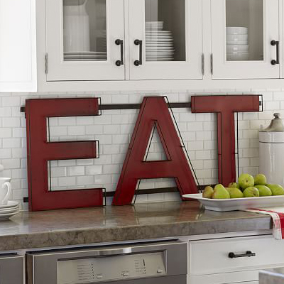 Red Eat Sign