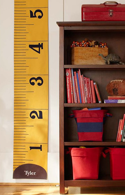 Yellow Measuring Tape Growth Chart