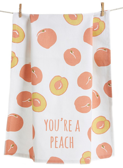 You're A Peach Dish Towel
