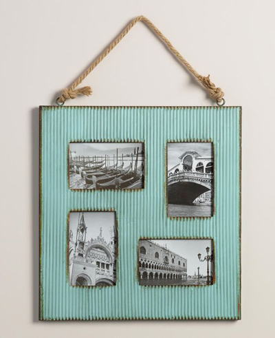 Aqua Barn Metal 4-Photo Frame