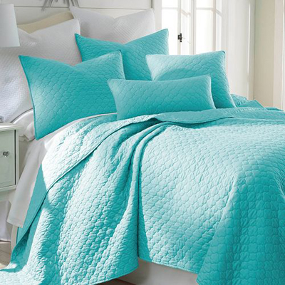 Turquoise bedding decor by color for Set de table matelasse