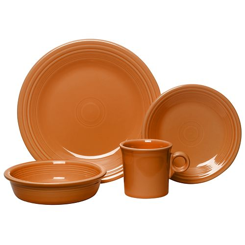 Fiesta 4-pc. Tangerine Place Setting