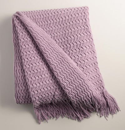 Grape Purple Waffle Throw