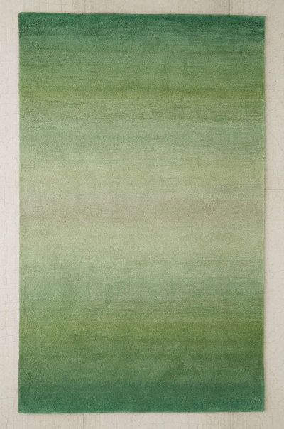 Green Fade Out Tufted Rug