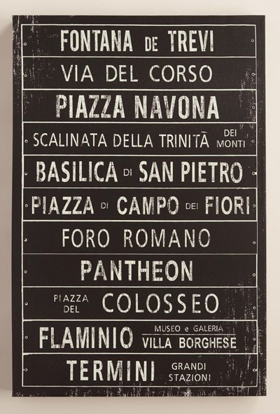 """Italy Metro Sign"" by Maria Mendez"