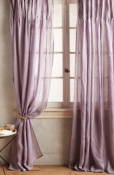 Lavender Pinch-Pleat Curtains