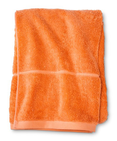 Orange Botanic Fiber Solid Bath Towels