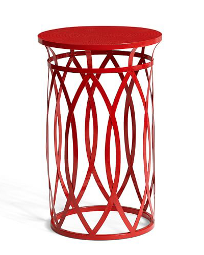 Ryan Red Wire Accent Table