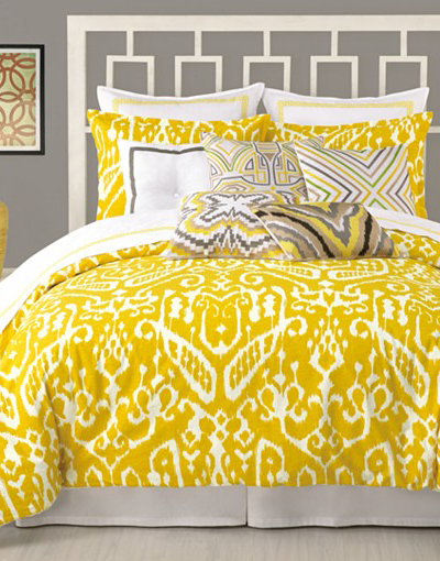 Trina Turk Yellow Ikat Bedding Collection