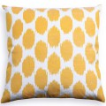 Yellow Spotted Silk Pillow