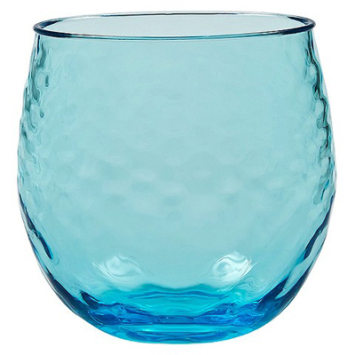 Aqua Azura Stemless Wine Tumblers Set of 4