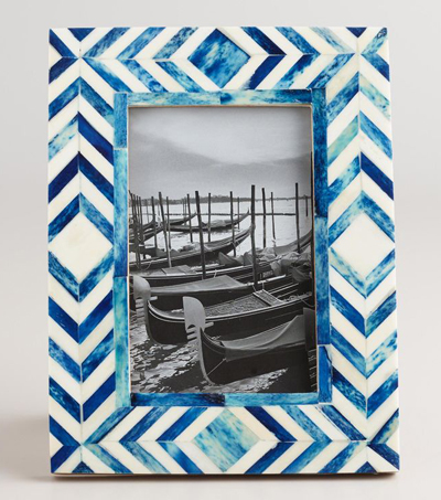 Blue and Natural Tribal Bone London Frame