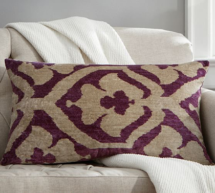 Brooke Printed Velvet Pillow Cover