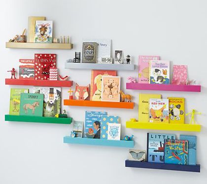 Colorful Modern Bookshelf Ledge