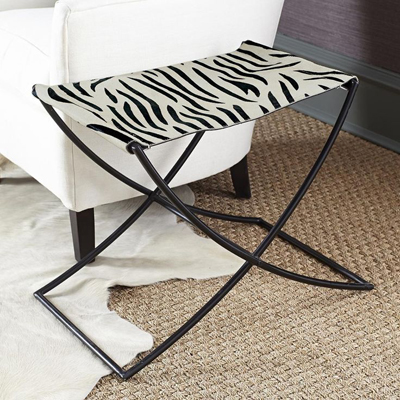Folding Cowhide Stool