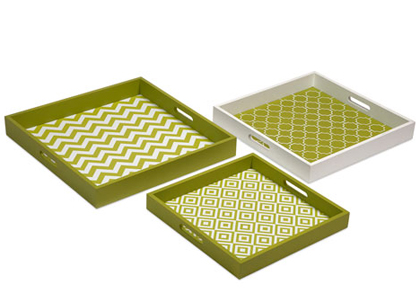 Green Apple Graphic Trays