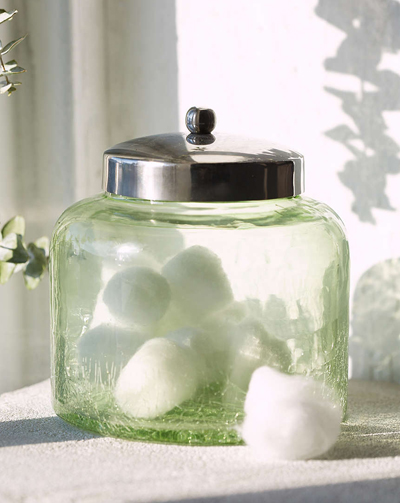 Green Sea Glass Jar