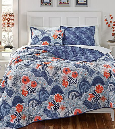 Kate Spain Hills & Valleys Reversible Quilt Set