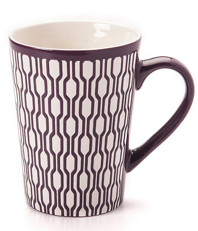 Purple Geometric Mug