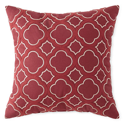 Red Clover Trellis Decorative Pillow