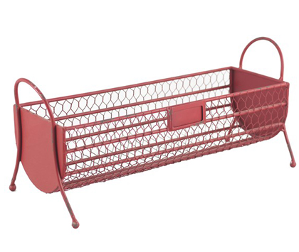 Red Metal Basket