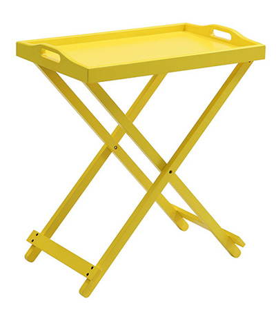 Yellow Folding Tray Table
