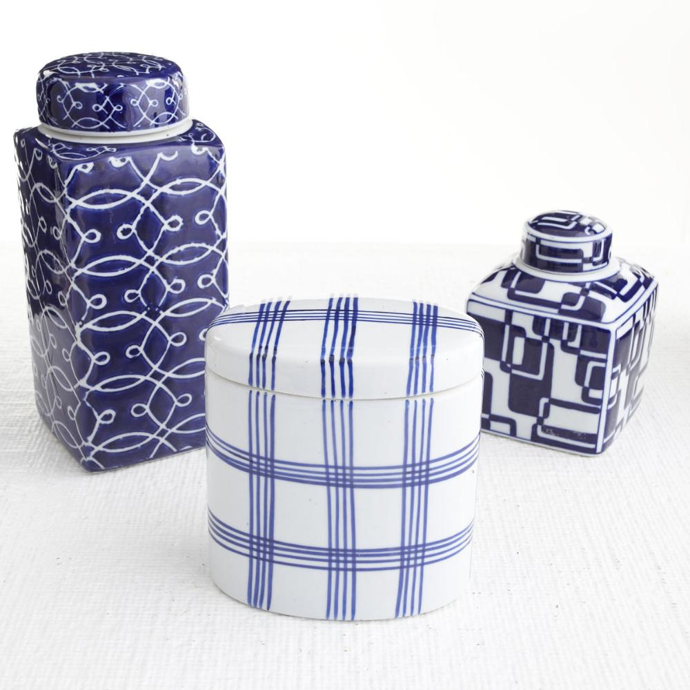 Blue and White Jar Set