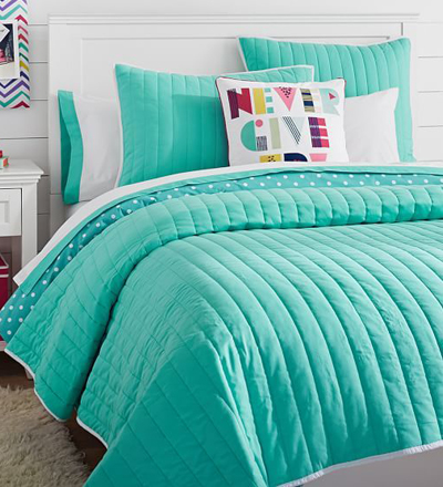 Color Pop Reversible Quilt + Sham