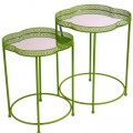Green Moroccan Style Tray Tables