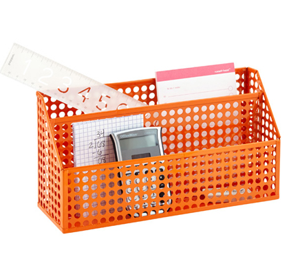Orange Edison Desktop Organizer