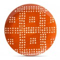 Orange Flare Geometric Appetizer Plate Set of 4