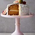 Pink Milk Glass Cake Stand