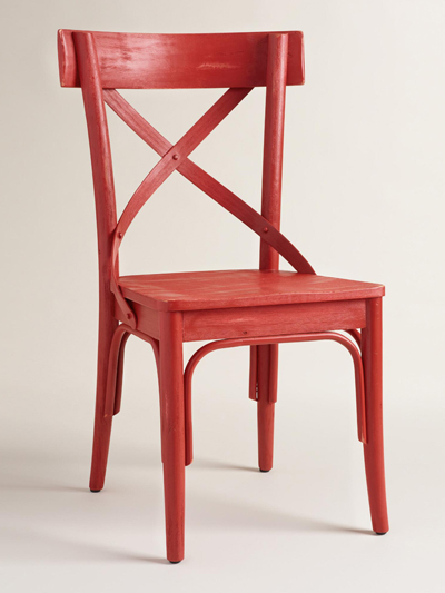 Red French Bistro Dining Chairs