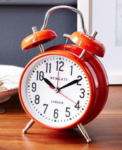Red London Alarm Clock