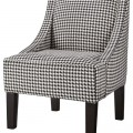 Black and White Houndstooth Hudson Swoop Chair