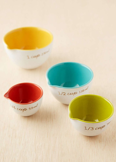 Ceramic Measuring Cups Set