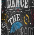 Chalkboard Dance in the Rain Shower Curtain