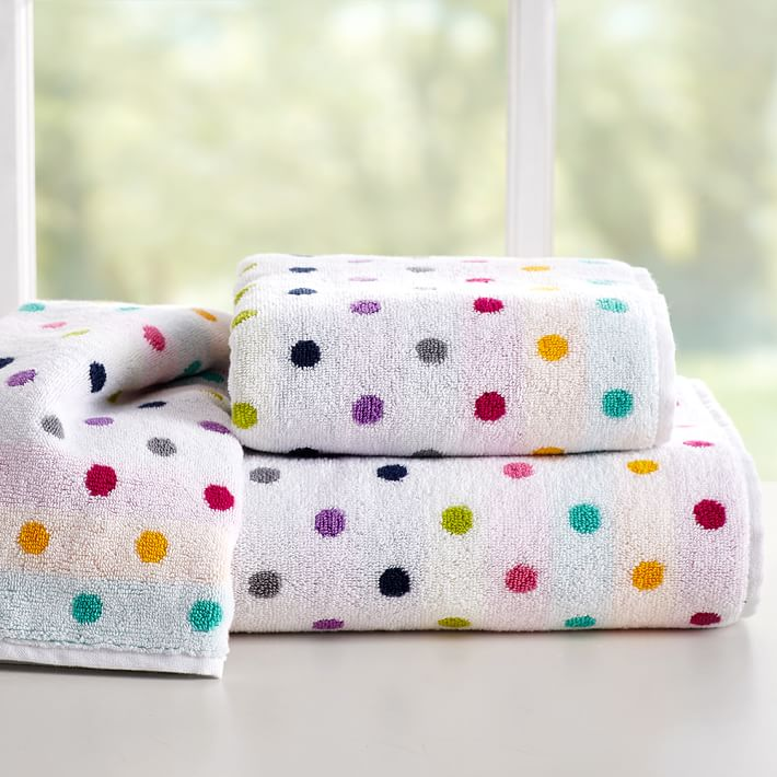 Confetti Dot Bath Towels