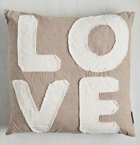 Darling Devotion Pillow in Love