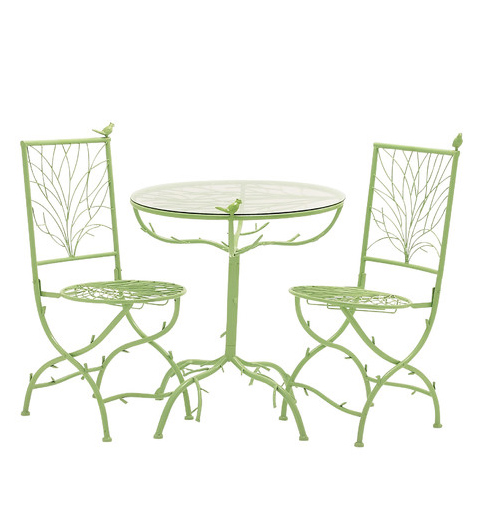 Green 3 Piece Simply Too Cool Pub Table Set