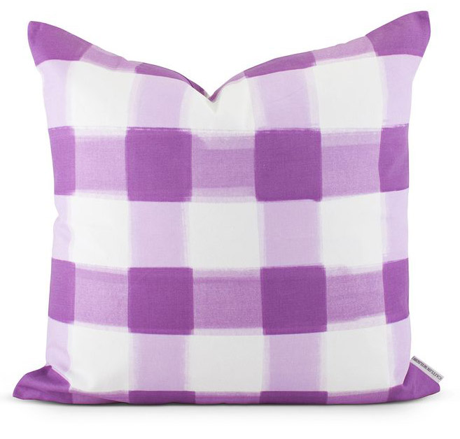 Lilac Buffalo Check Pillow