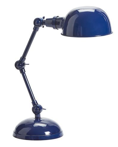 Navy Blue Harrison Bedside Task Lamp