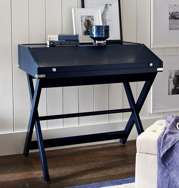 Navy Sienna Secretary Desk