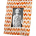 Orange Chevron Picture Frame