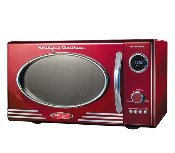 Red Retro Microwave