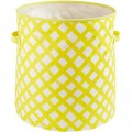 Yellow Crisscross Floor Bin