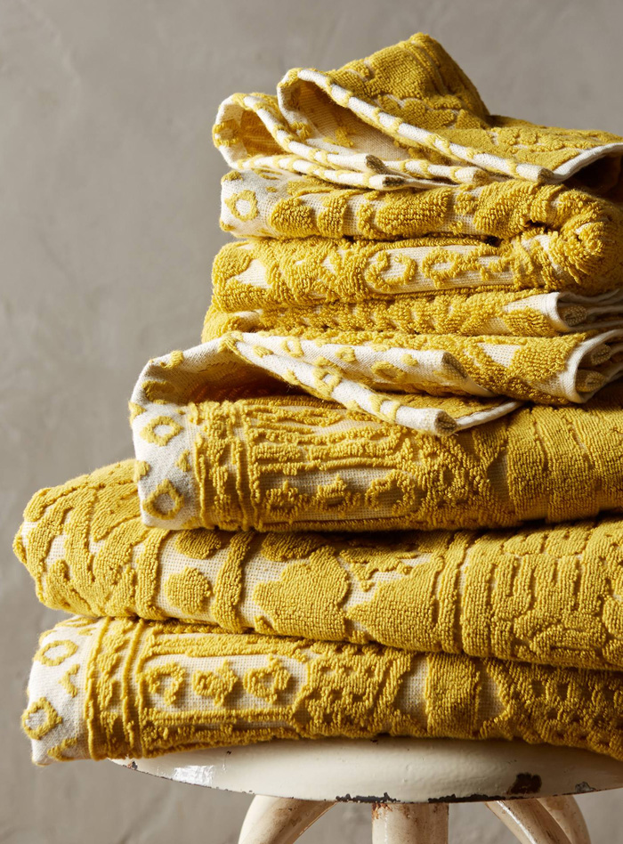 Yellow Stone Carvings Towel Collection