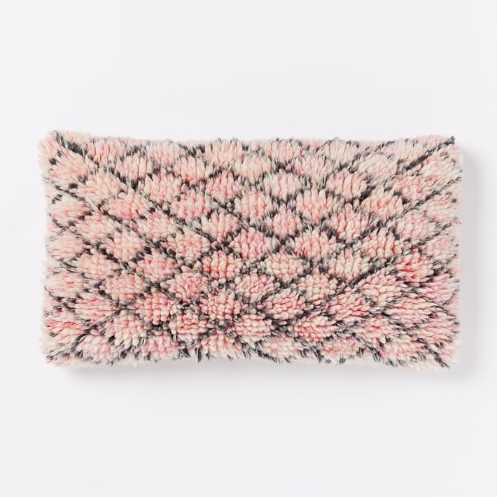 Allover Shag Lattice Pillow Cover