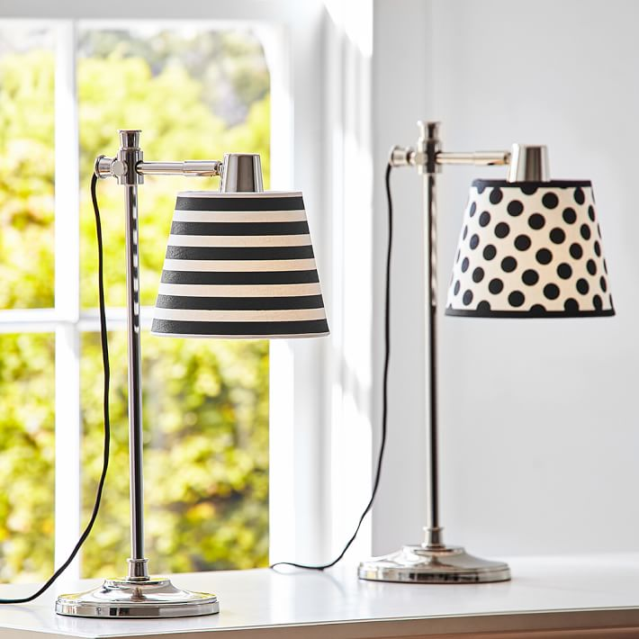 Black and White Taylor Task Lamp