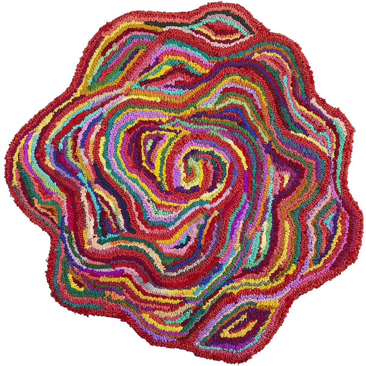 Chindi Flower-Shaped Rug